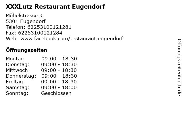 ᐅ öffnungszeiten Xxxlutz Restaurant Eugendorf Möbelstrasse 9 In