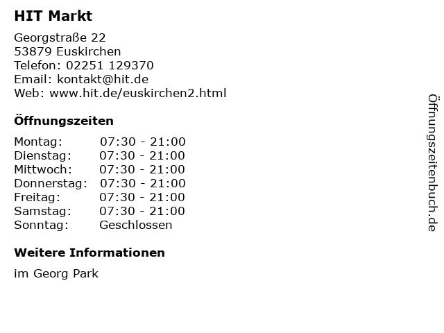 HIT Handelsgruppe GmbH Co. & KG in Euskirchen: Adresse und Öffnungszeiten