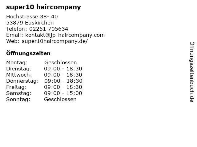 super10 haircompany in Euskirchen: Adresse und Öffnungszeiten