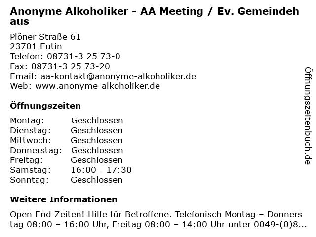 Anonyme Alkoholiker Lübeck