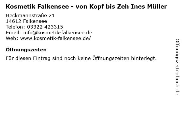 Kosmetik Falkensee - von Kopf bis Zeh Ines Müller in Falkensee: Adresse und Öffnungszeiten