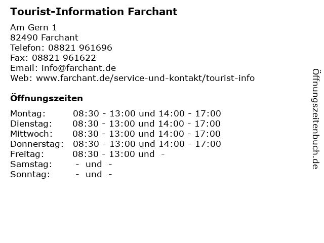 Tourist-Information Farchant in Farchant: Adresse und Öffnungszeiten