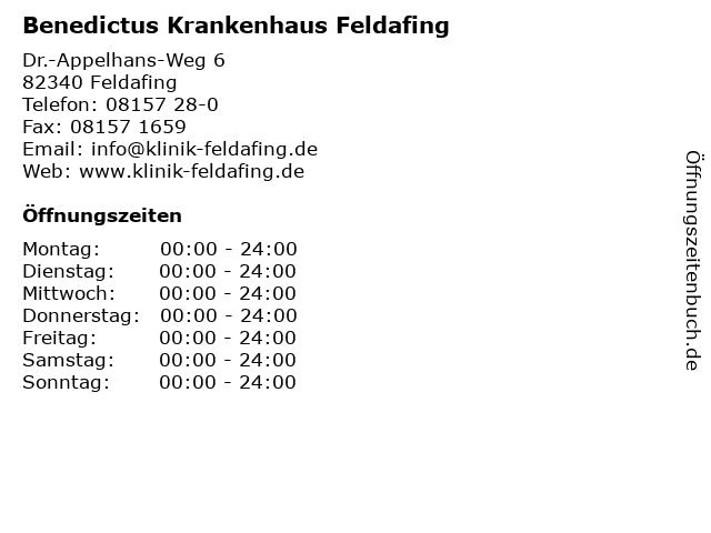 Benedictus Krankenhaus Feldafing in Feldafing: Adresse und Öffnungszeiten