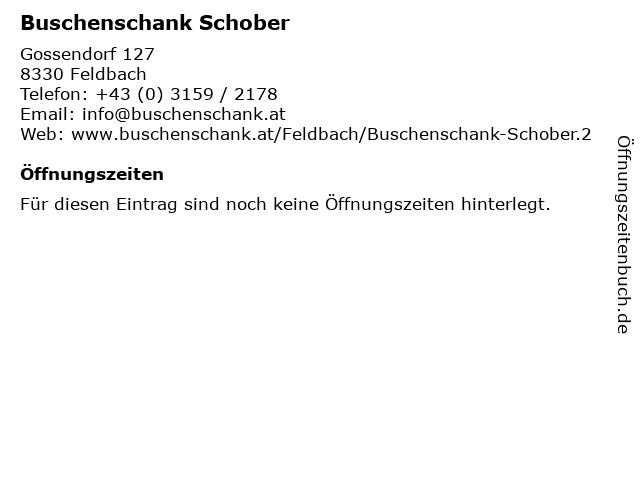 Buschenschank Schober in Feldbach: Adresse und Öffnungszeiten