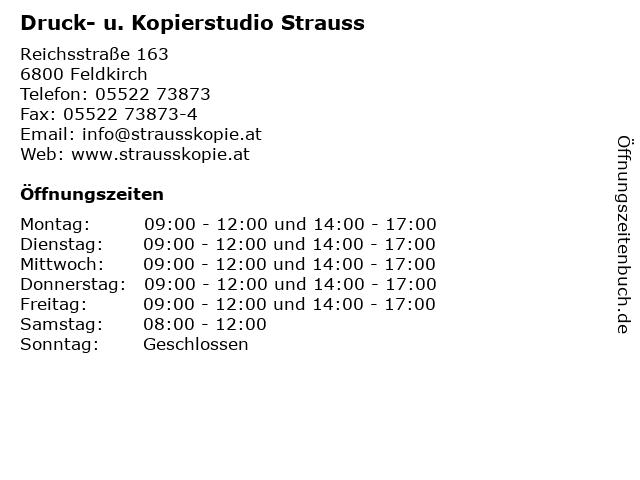 b5a08e240e Druck- u. Kopierstudio Strauss in Feldkirch: Adresse und Öffnungszeiten