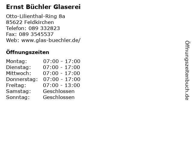 Ernst Büchler Glaserei in München: Adresse und Öffnungszeiten