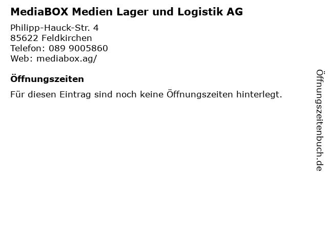 MediaBOX Medien Lager und Logistik AG in Feldkirchen: Adresse und Öffnungszeiten