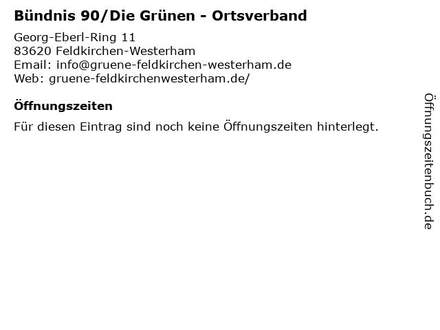 Bündnis 90/Die Grünen - Ortsverband in Feldkirchen-Westerham: Adresse und Öffnungszeiten