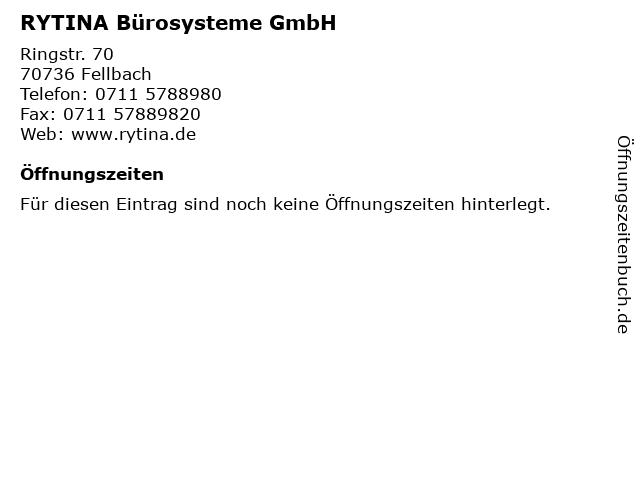 RYTINA Bürosysteme GmbH in Fellbach: Adresse und Öffnungszeiten