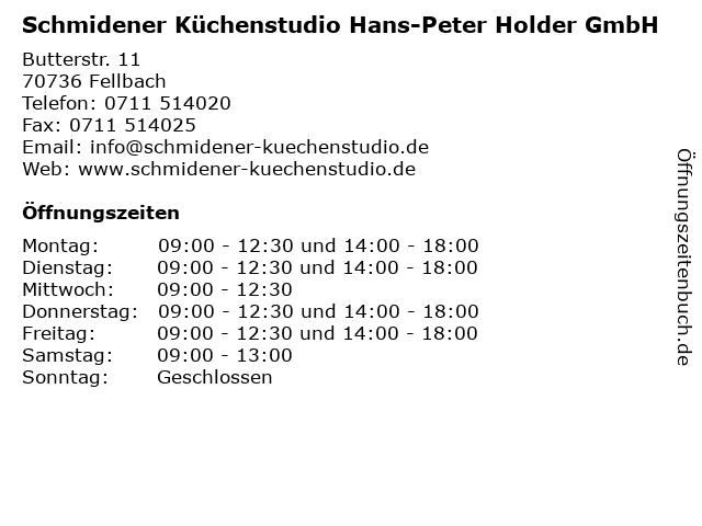 Schmidener Küchenstudio Hans-Peter Holder GmbH in Fellbach: Adresse und Öffnungszeiten
