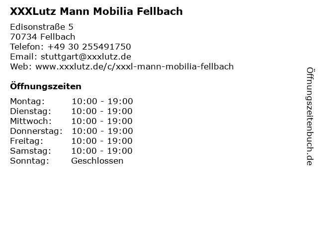 XXXLutz Mann Mobilia Fellbach in Fellbach: Adresse und Öffnungszeiten