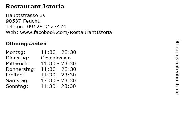 Restaurant Istoria in Feucht: Adresse und Öffnungszeiten