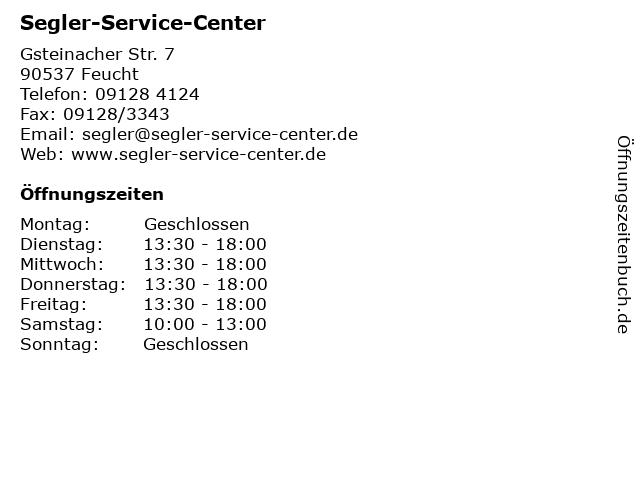 Segler-Service-Center in Feucht: Adresse und Öffnungszeiten