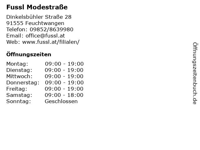 Fussl Modestraße in Feuchtwangen: Adresse und Öffnungszeiten