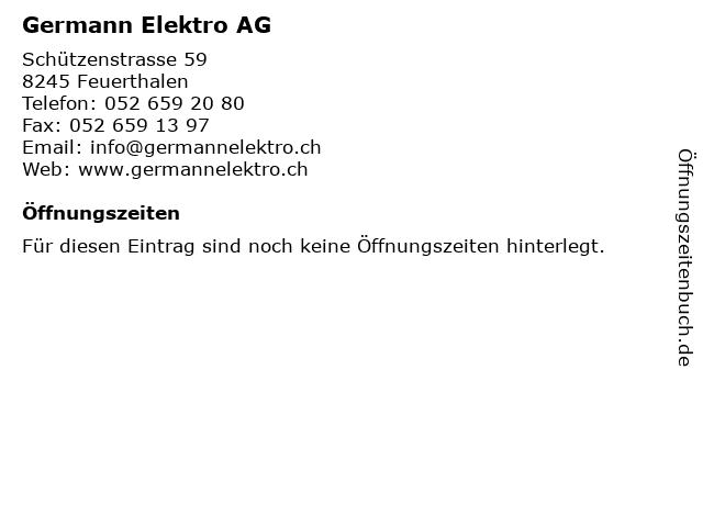 Germann Elektro AG in Feuerthalen: Adresse und Öffnungszeiten