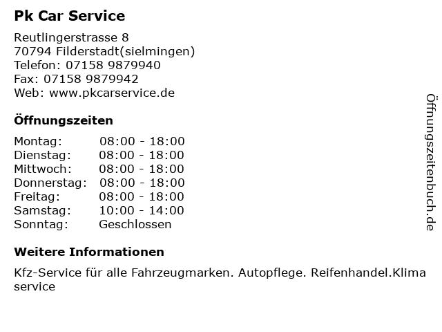 Pk Car Service in Filderstadt(sielmingen): Adresse und Öffnungszeiten