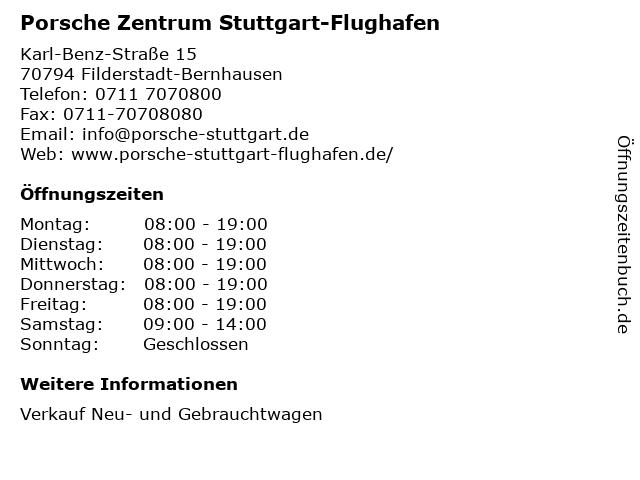 Porsche Zentrum Stuttgart-Flughafen in Filderstadt-Bernhausen: Adresse und Öffnungszeiten