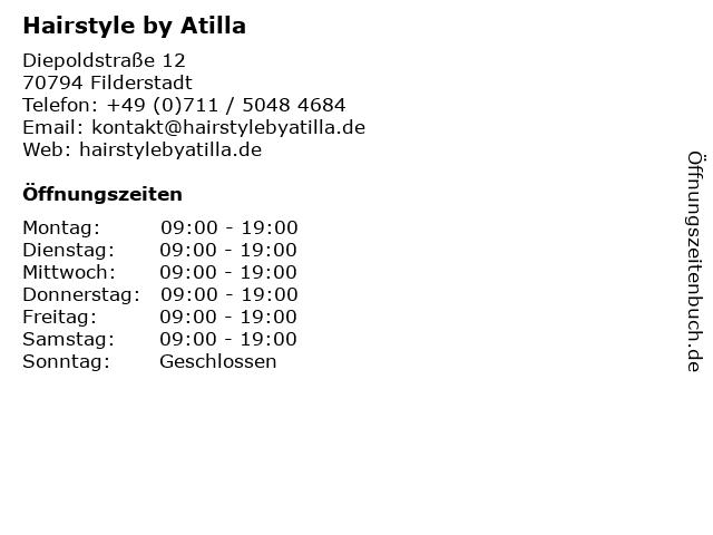 Hairstyle by Atilla in Filderstadt: Adresse und Öffnungszeiten