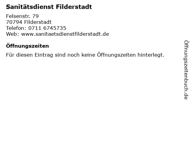 Sanitätsdienst Filderstadt in Filderstadt: Adresse und Öffnungszeiten