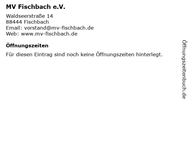 MV Fischbach e.V. in Fischbach: Adresse und Öffnungszeiten