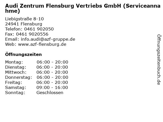 Audi Zentrum Flensburg Vertriebs GmbH (Serviceannahme) in Flensburg: Adresse und Öffnungszeiten