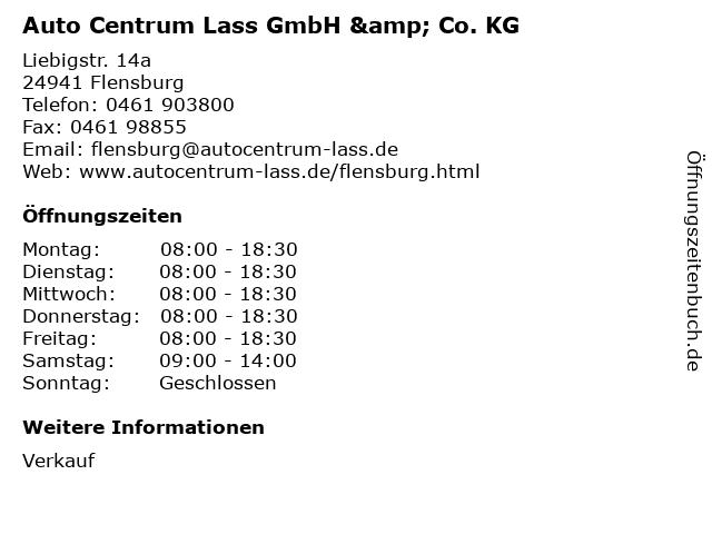 Auto Centrum Lass GmbH & Co. KG in Flensburg: Adresse und Öffnungszeiten