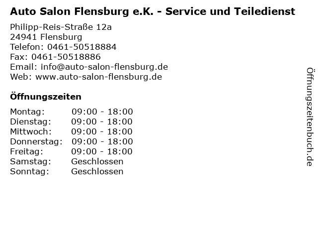 Auto Salon Flensburg e.K. - Service und Teiledienst in Flensburg: Adresse und Öffnungszeiten