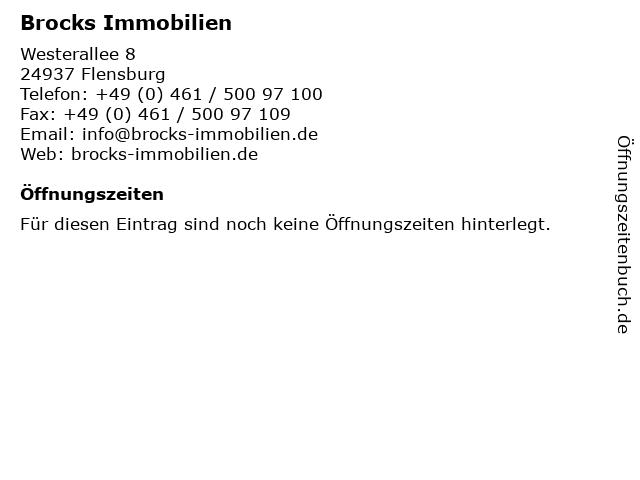 Brocks Immobilien in Flensburg: Adresse und Öffnungszeiten