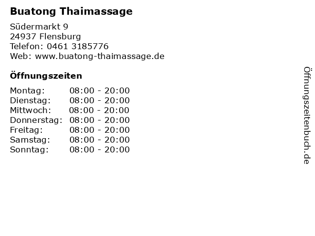 Thai massage flensburg