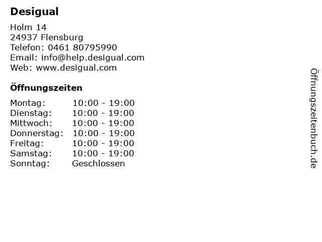 Desigual in Flensburg: Adresse und Öffnungszeiten