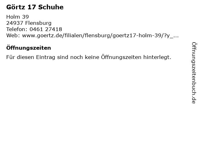 Görtz 17 Schuhe in Flensburg: Adresse und Öffnungszeiten