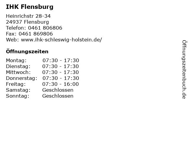 IHK Flensburg in Flensburg: Adresse und Öffnungszeiten