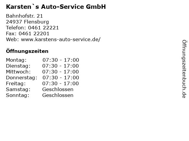 Karsten`s Auto-Service GmbH in Flensburg: Adresse und Öffnungszeiten