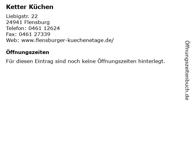Ketter Küchen in Flensburg: Adresse und Öffnungszeiten