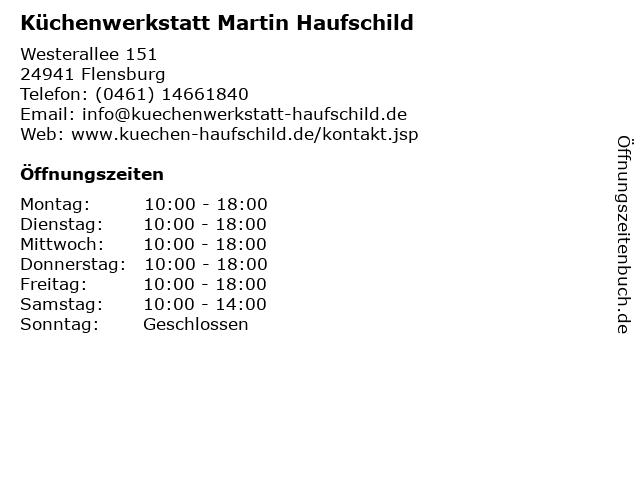 Küchenwerkstatt Martin Haufschild in Flensburg: Adresse und Öffnungszeiten