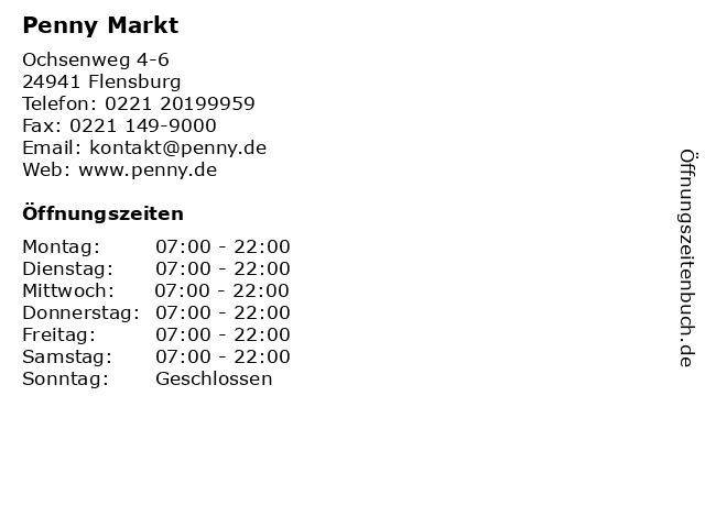 Penny Markt in Flensburg: Adresse und Öffnungszeiten