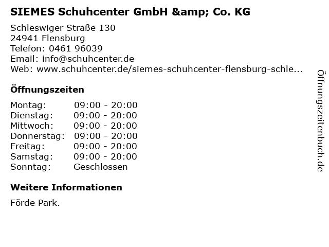 SIEMES Schuhcenter GmbH & Co. KG in Flensburg: Adresse und Öffnungszeiten