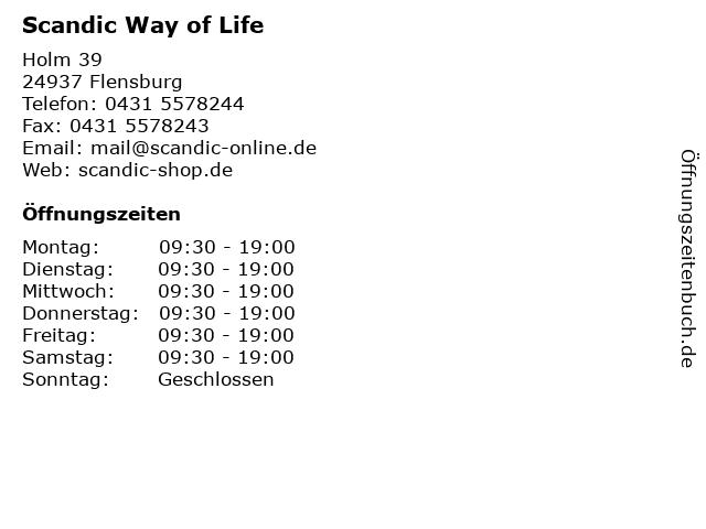 Scandic Way of Life in Flensburg: Adresse und Öffnungszeiten