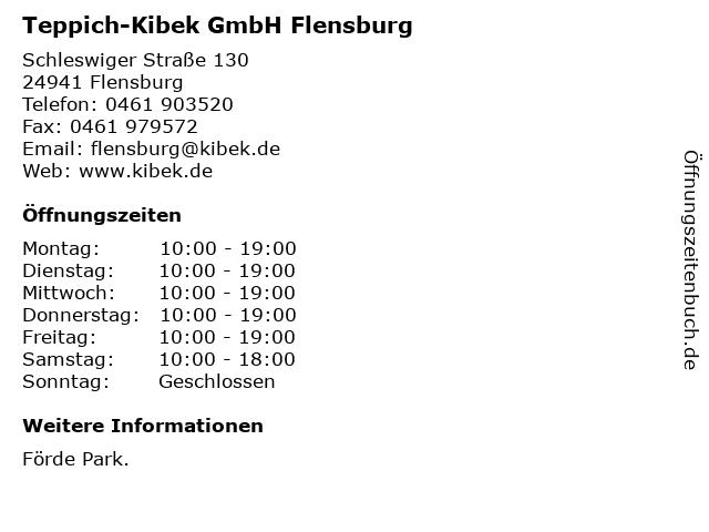 Teppich-Kibek GmbH Flensburg in Flensburg: Adresse und Öffnungszeiten