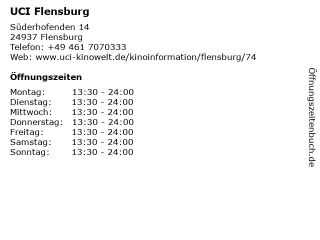 ᐅ öffnungszeiten Uci Kinowelt Flensburg Süderhofenden 14 In