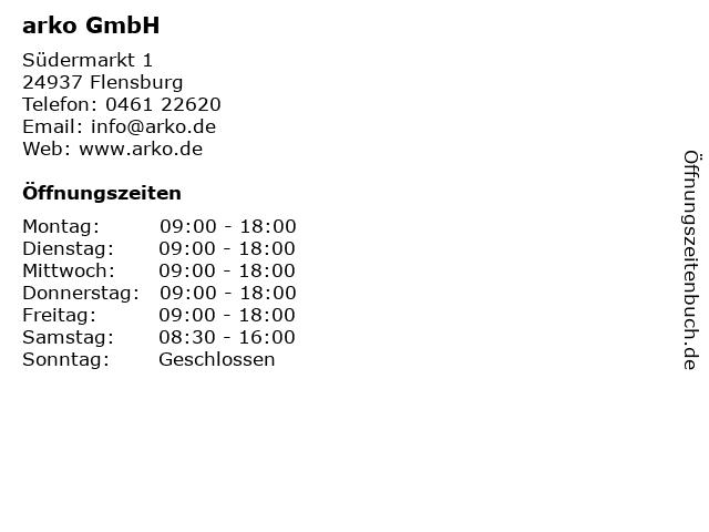 arko GmbH in Flensburg: Adresse und Öffnungszeiten
