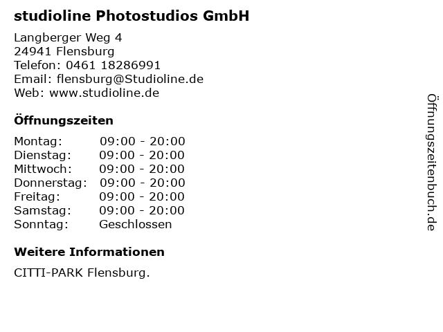 ᐅ Offnungszeiten Studioline Photostudios Gmbh Langberger Weg 4