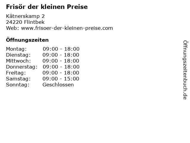 Frisör der kleinen Preise in Flintbek: Adresse und Öffnungszeiten