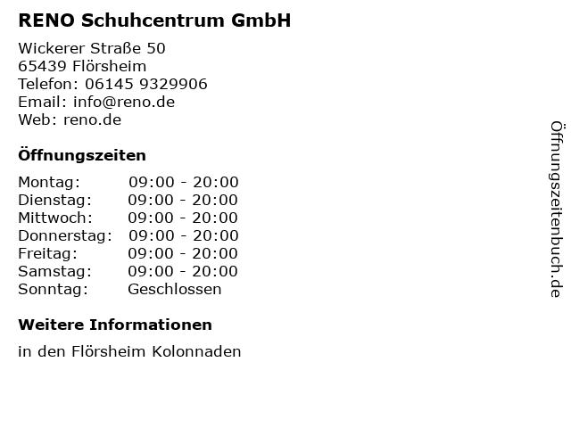 RENO Schuhcentrum GmbH in Flörsheim: Adresse und Öffnungszeiten