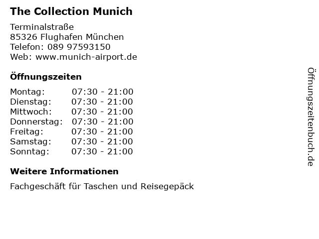 The Collection Munich in Flughafen München: Adresse und Öffnungszeiten