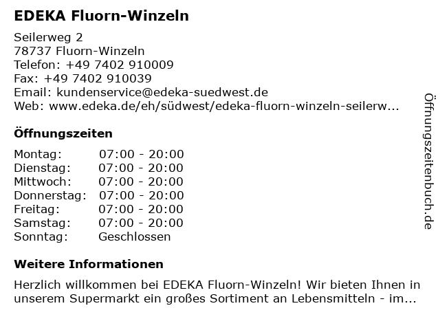 EDEKA Fluorn-Winzeln in Fluorn-Winzeln: Adresse und Öffnungszeiten