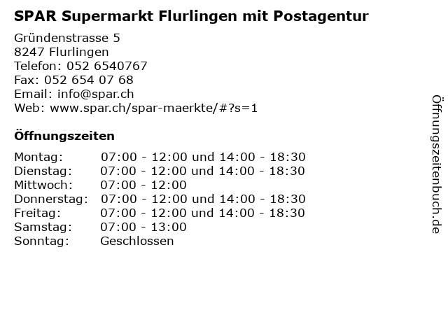SPAR Supermarkt Flurlingen mit Postagentur in Flurlingen: Adresse und Öffnungszeiten
