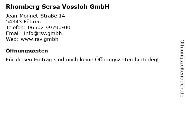 Rhomberg Sersa Vossloh GmbH in Föhren: Adresse und Öffnungszeiten