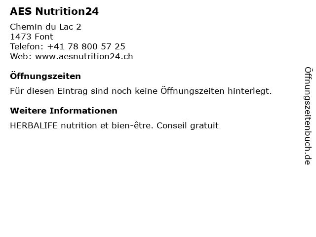 AES Nutrition24 in Font: Adresse und Öffnungszeiten
