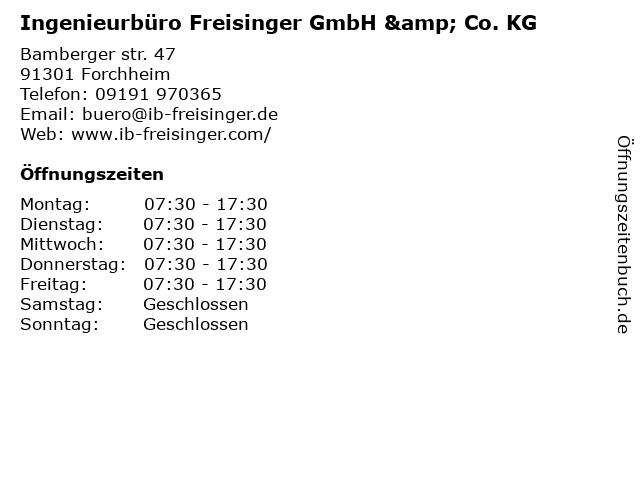 Ingenieurbüro Freisinger GmbH & Co. KG in Forchheim: Adresse und Öffnungszeiten